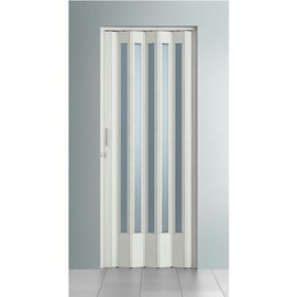 Porta Sanfonada BCF Translúcida Branca 0,84cm x 210cm