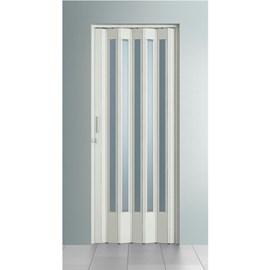 Porta sanfonada Bcf Translúcida Branca 84cm x 2,10m