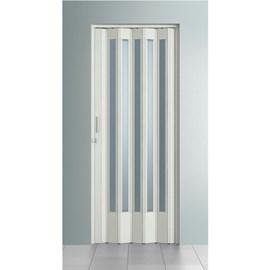 Porta sanfonada Bcf Translúcida Branca 96cm x 2,10m