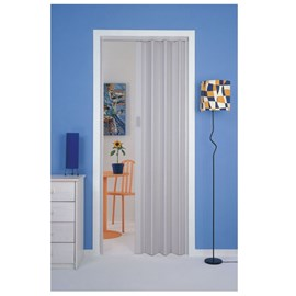 Porta sanfonada Plasbil Cinza 70cm x 210cm