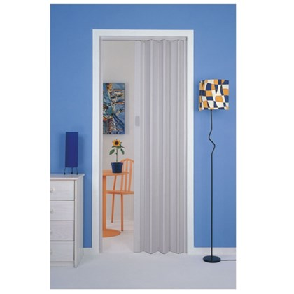 Porta sanfonada Plasbil Cinza 90cm x 2,10m