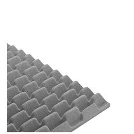 Revestimento Acústico Sonique Wave Sonique Grafite 625mm x 625mm x 35mm