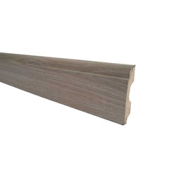 Rodapé de Mdf Durafloor Clean 8cm Carvalho Amerino 80mm x 18mm x 2100mm