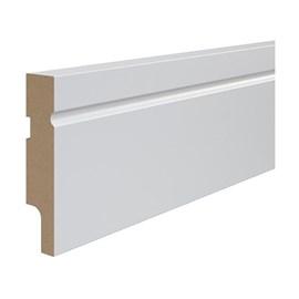 Rodapé de mdf Durafloor Easy Branco Polar 12cm x 18mm x 2,1m