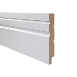 Rodapé de Mdf Durafloor Essencial 15cm E-02 Branco Polar 150mm x 18mm x 2100mm