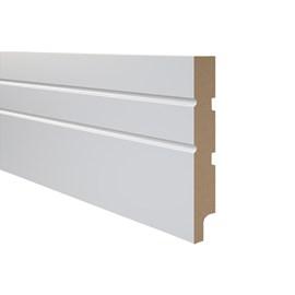 Rodapé de mdf Durafloor Essencial E-01 Branco Polar 15cm x 18mm x 2,1m