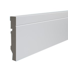 Rodapé de Poliestireno Durafloor Maxx M-03 10cm M-03 Branco 100mm x 18mm x 2100mm