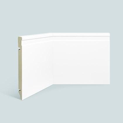 Rodapé de Poliestireno EspaçoFloor 20cm Frisado Branco 200mm x 15mm x 2200mm