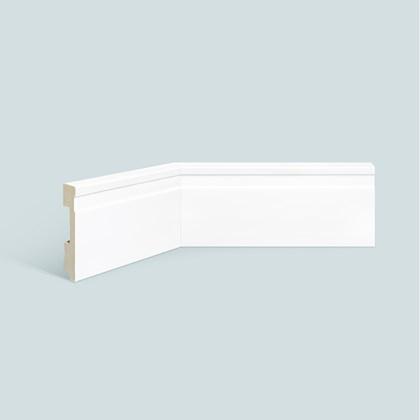 Rodapé de poliestireno EspaçoFloor frisado branco 10cm x 15mm x 2,20m