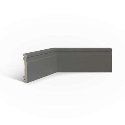 Rodapé de poliestireno EspaçoFloor frisado cinza 10cm x 15mm x 2,20m