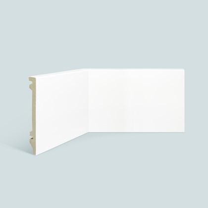 Rodapé de poliestireno EspaçoFloor liso branco 15cm x 15mm x 2,20m