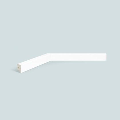 Rodapé de poliestireno EspaçoFloor liso branco 3cm x 15mm x 2,20m