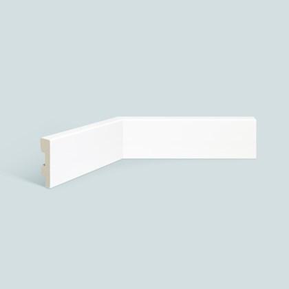 Rodapé de poliestireno EspaçoFloor liso branco 7cm x 15mm x 2,20m