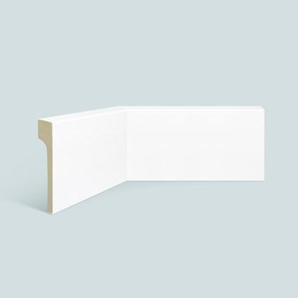Rodapé de poliestireno EspaçoFloor liso reforma branco 12cm x 20mm x 2,20m