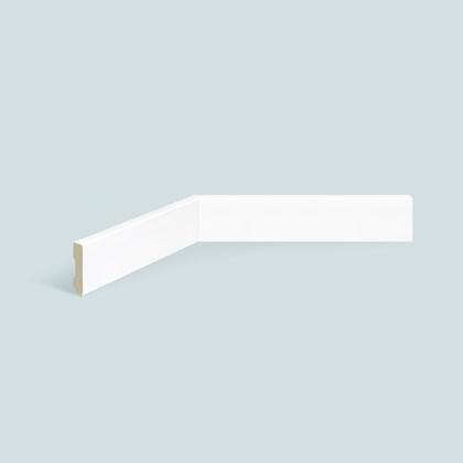 Rodapé de poliestireno EspaçoFloor liso slim branco 5cm x 10mm x 2,20m