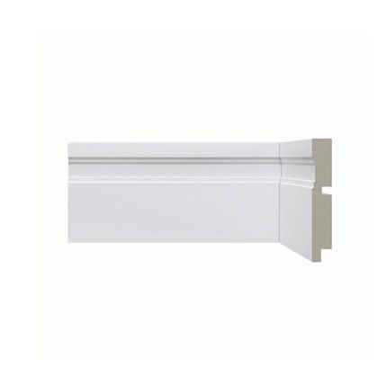 Rodapé de Poliestireno Santa Luzia Moderna 514 10cm 514 Branco 100mm x 16mm x 2400mm